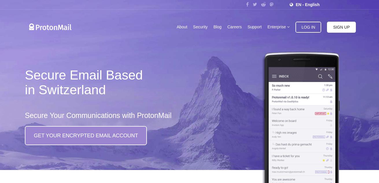 protonmail - email alternatif yahoo terbaik